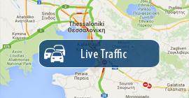 View live traffic on the roads of Halkidiki