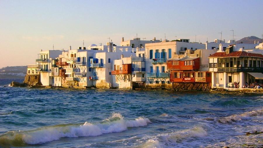 Mykonos Island in Cyclades