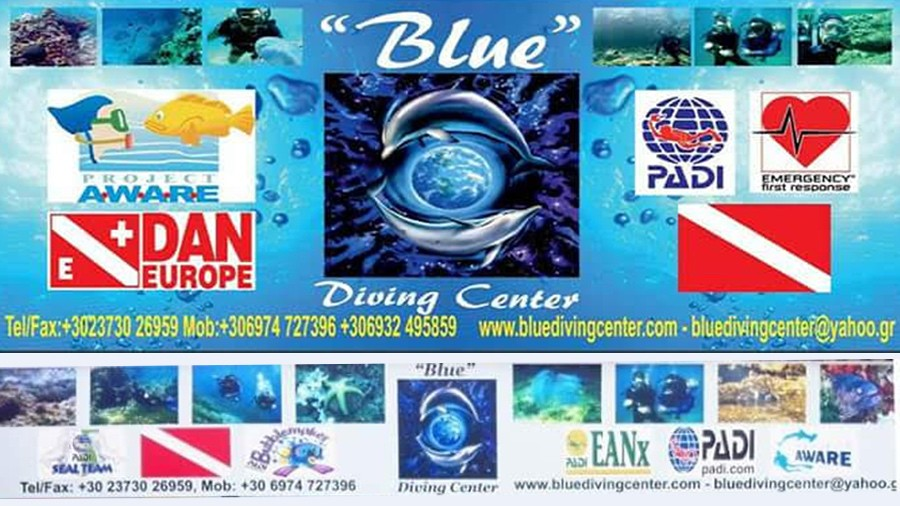 Blue Diving Center in Nea Potidea